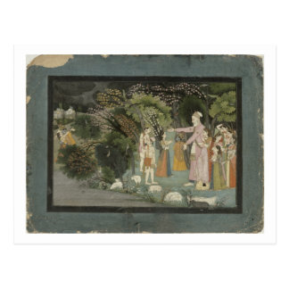 51.207/28 Nanda asking Radha to escort Krishna hom Postcard