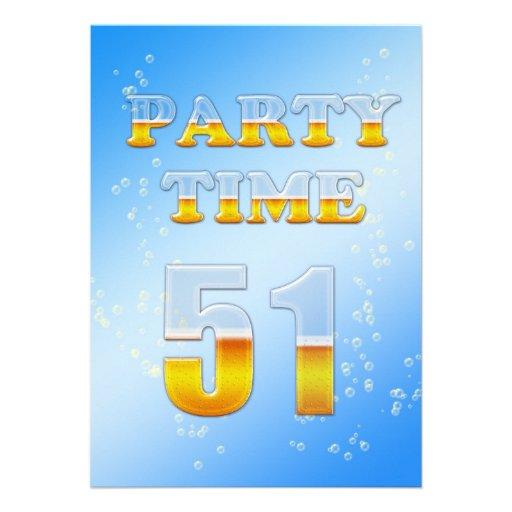 51.a invitación de la fiesta de cumpleaños con la