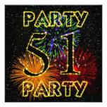 51.a invitación de la fiesta de cumpleaños con los