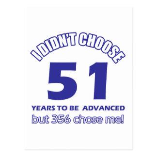 51 años de adelanto tarjeta postal
