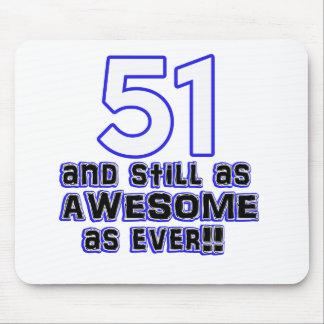 51 birthday design mouse pad