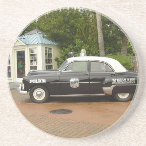 '51 Chevrolet Police Car Drink Coaster