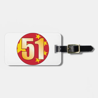 51 CHINA Gold Bag Tag
