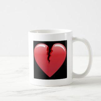 51 CORAL BROKEN HEART LOVE LOST PAST SAD BLACK BAC COFFEE MUG