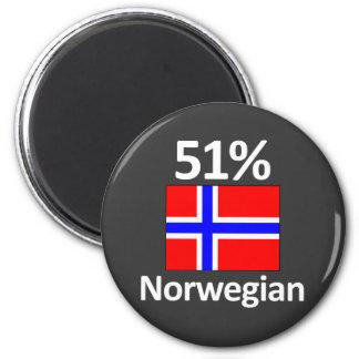 51% Norwegian 2 Inch Round Magnet