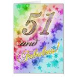 51.o cumpleaños para alguien fabuloso tarjeta