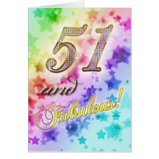 51.o cumpleaños para alguien fabuloso tarjeta de felicitación