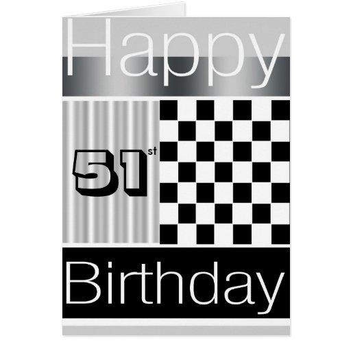 51.o Cumpleaños Tarjeta De Felicitación