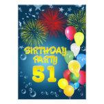 51.o Invitación de la fiesta de cumpleaños con los