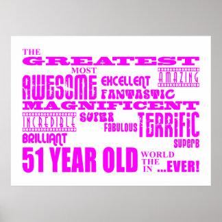 51.os cumpleaños de los chicas: Cincuenta más gran Póster