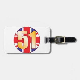 51 UK Gold Luggage Tag