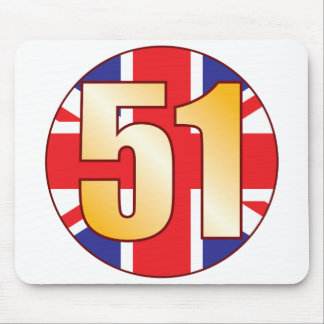 51 UK Gold Mouse Pad