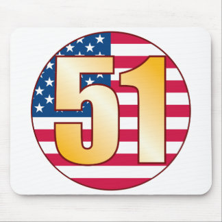 51 USA Gold Mouse Pad