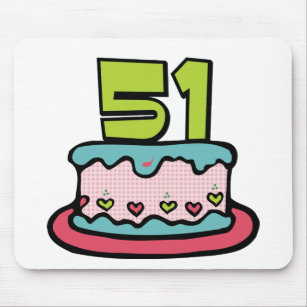 51 Year Old Birthday Cake Mouse Pad