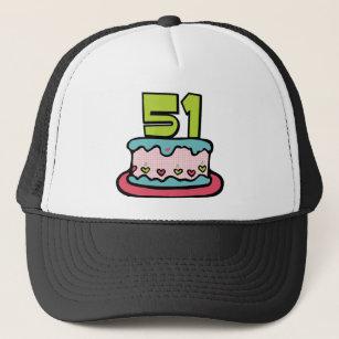 51 Year Old Birthday Cake Trucker Hat