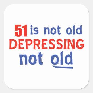 51 year old birthday design square sticker