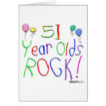 51 Year Olds Rock! Greeting Card