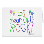 51 Year Olds Rock ! Greeting Cards