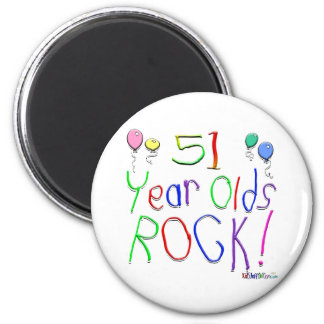 51 Year Olds Rock ! Fridge Magnets