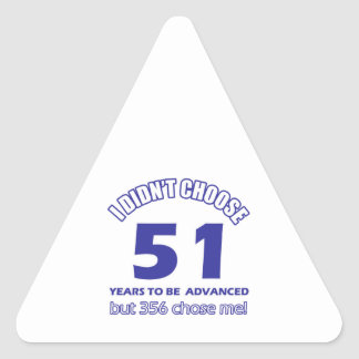 51 years advancement triangle sticker