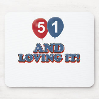 51 years Old birthday designs Mouse Pad