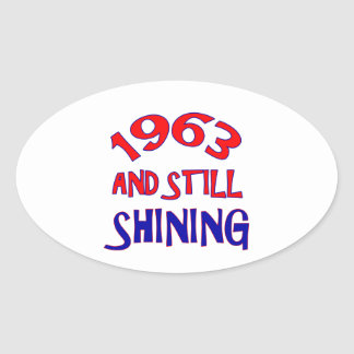 51 years Old birthday designs Oval Sticker