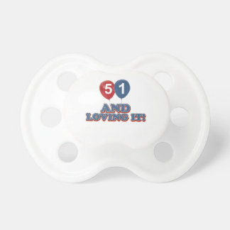 51 years Old birthday designs Baby Pacifier