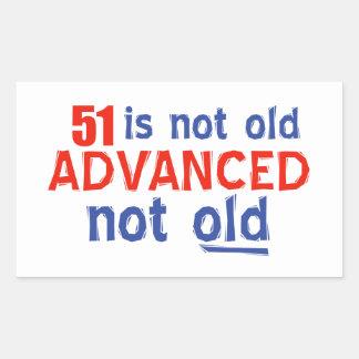 51 years Old birthday designs Rectangular Sticker