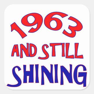 51 years Old birthday designs Square Sticker