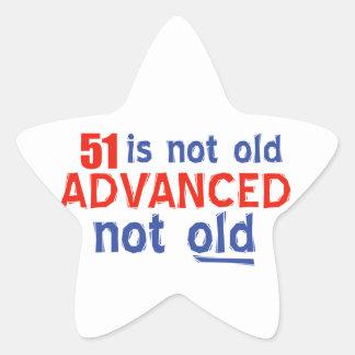 51 years Old birthday designs Star Sticker