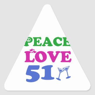 51 years Old birthday designs Triangle Sticker