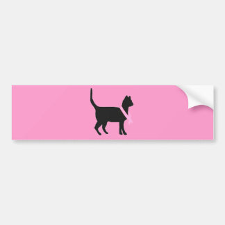 51b88 black cat pink ribbon breast cancer causes bumper stickers