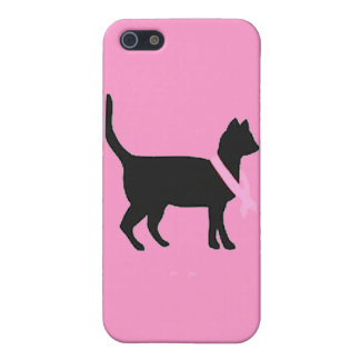 51b88 black cat pink ribbon breast cancer causes iPhone 5 covers