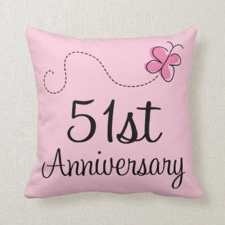 51st Anniversary Celebration Gift (butterfly) Throw Pillow