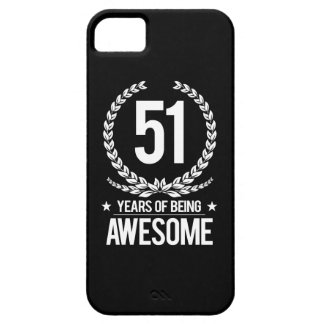 51st Birthday (51 Years Of Being Awesome) iPhone SE/5/5s Case
