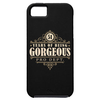 51st Birthday (51 Years Of Being Gorgeous) iPhone SE/5/5s Case