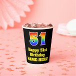 [ Thumbnail: 51st Birthday: Colorful, Fun, Exciting, Rainbow 51 ]