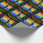 [ Thumbnail: 51st Birthday: Colorful Music Symbols, Rainbow 51 Wrapping Paper ]