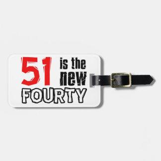 51st birthday designs luggage tag