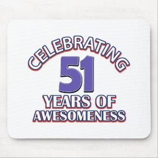 51st birthday designs mouse pad