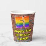 [ Thumbnail: 51st Birthday: Fun Graffiti-Inspired Rainbow 51 ]