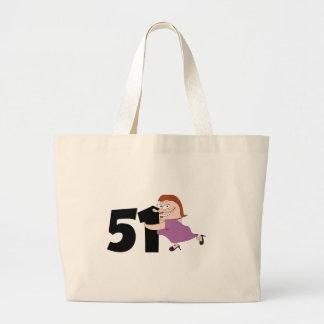 51st birthday gifts - Funny cartoon birthday Tote Bag