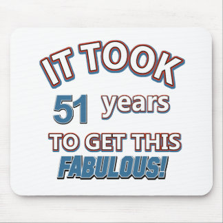 51st year birthday designs mouse pad