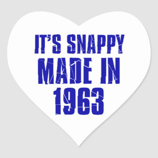 51years Old Birthday Designs Heart Sticker