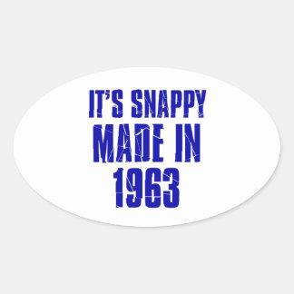 51years Old Birthday Designs Oval Sticker
