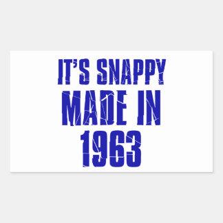51years Old Birthday Designs Rectangular Sticker