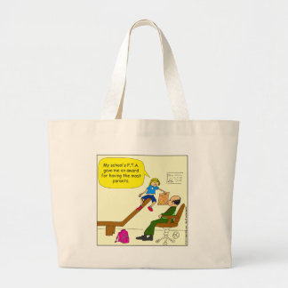 520 award from PTA for most parents cartoon Tote Bags