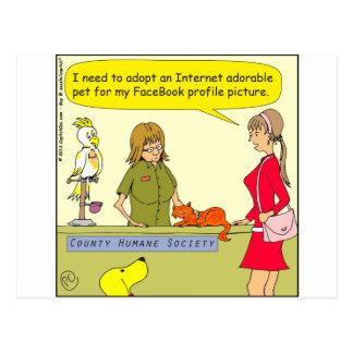 521 pet for facebook profile cartoon postcard