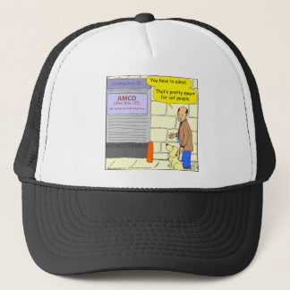 524 inside the box cartoon trucker hat