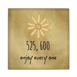 525.600 disfrute de cada minuto posavasos de madera